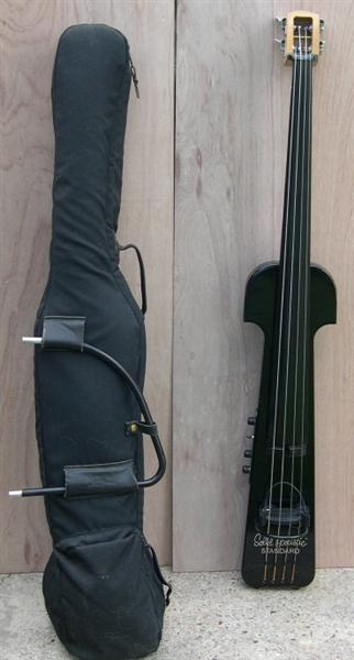 1986 Clevinger Solid Acoustic Electric Upright Bass